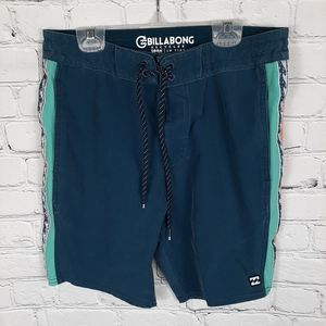 Billabong Mens 28 Recycler DBAH Swim Board Shorts